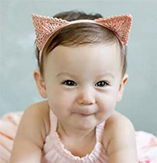 Driverder Chic e Romanzo Baby Hair Decorations Girl Hairband Cat Ears Hairband (Light Pink)