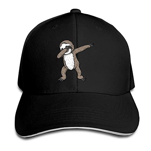 2de16c0cae4 Youbah-01 Women s Men s Sloth Dabbing Adult Adjustable Snapback Hats  Sandwich Cap