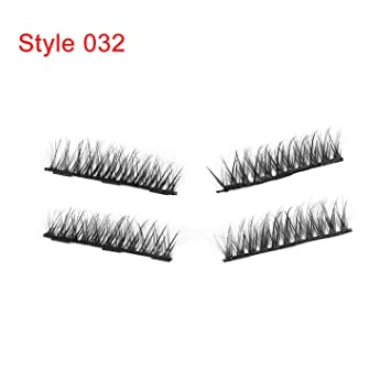 9bf0e8ce4e2 Amazon.com : 1Set Triple Eyelashes Makeup Handmade Full Coverage Eye Lashes  Thick Long Fake Eyelashes Make Up, Style 032 : Beauty
