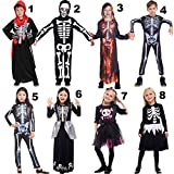 Halloween Children's Day Party Skeleton Costumes Kids Skull Skeleton Monster Demon Ghost Scary Costume Dress Robe for Boys Girls