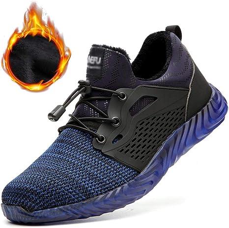 SMGPY Zapatos De Seguridad para Hombre con Puntera De Acero Zapatillas De Seguridad Trabajo, Calzado De Industrial Y Deportiva: Amazon.es: Deportes y aire libre