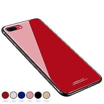 58dbddbe71 【SUMart】iPhone8 Plus ケース/iPhone7 Plus ケース TPU 強化ガラスケース かわいい おしゃれ