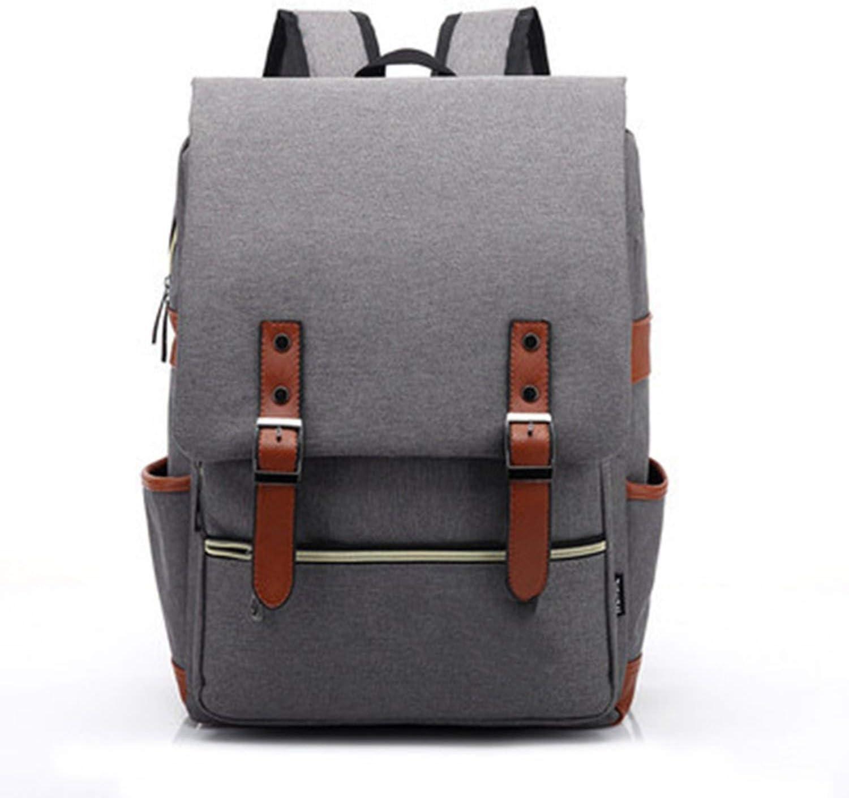Oxford Men Travel Leisure Backpack Retro Casual Bag Women Canvas Laptop Rucksack