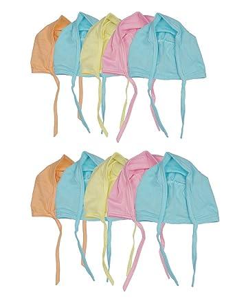 Badru New Born Baby Caps (Multicolour) - Pack of 10  Amazon.in ... d009802b8c6