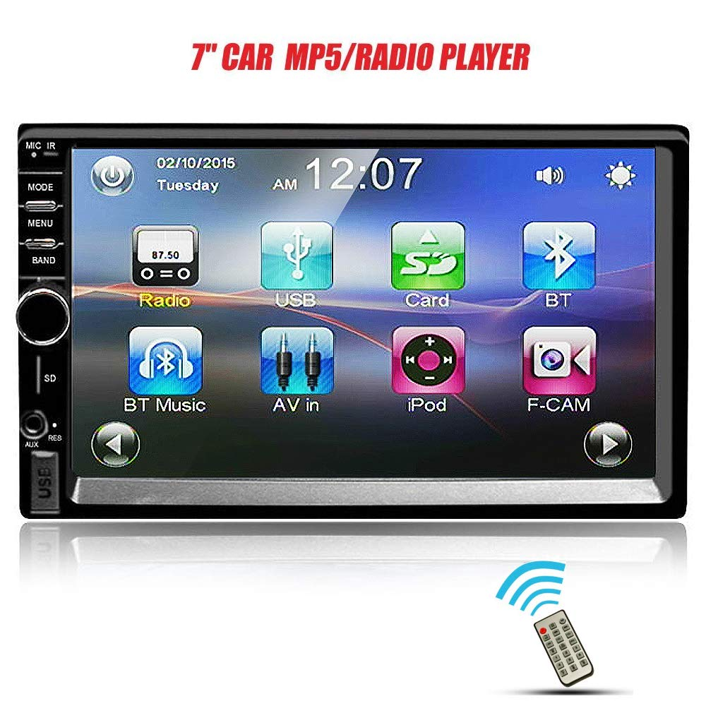 Ezonetronics 7-inch Indash Double DIN Touch Screen Car AM/FM/USB/SD Player Car Stereo Radio for Universal(No DVD) CW7021