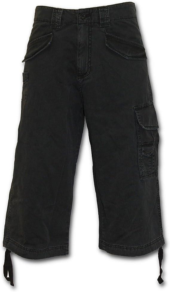 Spiral Bleeding Souls Vintage Cargo Shorts Black