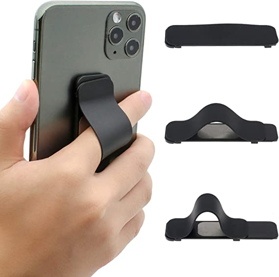 Finger Grip for iPhone Android Smartphone Mini Tablet Car Vent Holder Mobile Devices Black - 2 Packs Phone Strap AOLIY Phone Handle Cell Phone Grip and Stand