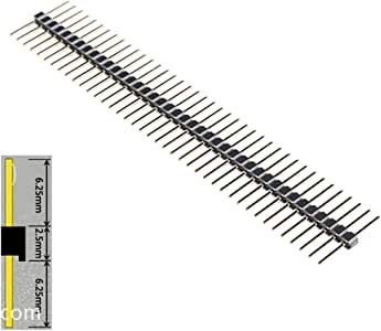 """Generic 40 Pin Breakaway Headers 0.1"""" Male Equal Length Long Centered 6.25mm on Both Sides 15mm in Total(pack of 10)"""