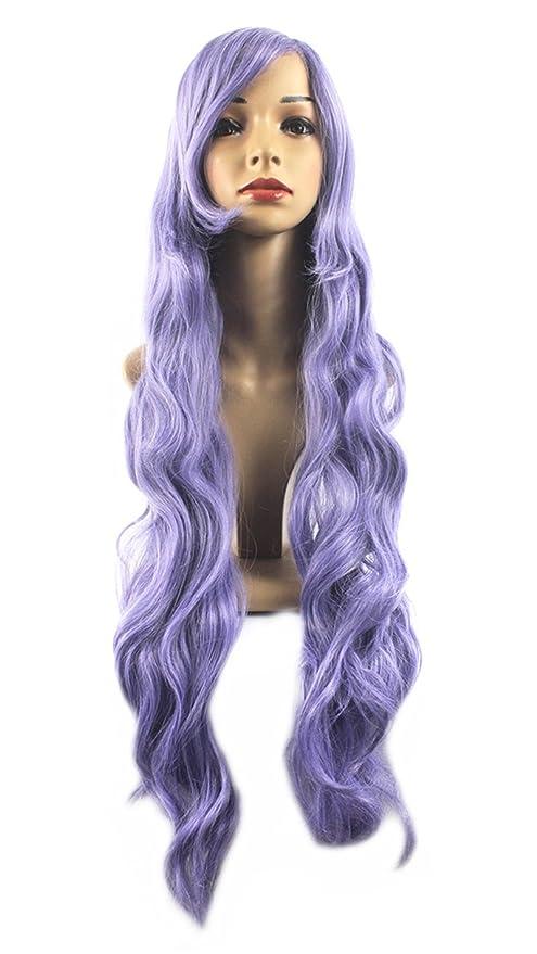 Xiaoyu Pelucas cosplay del pelo de las mujeres de los 80cm de largo onduladas - púrpura