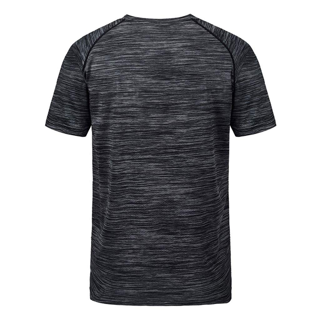 Lookatool T Shirt Men Loose Size Sports Fitness Short Sleeves Fast Dry Top