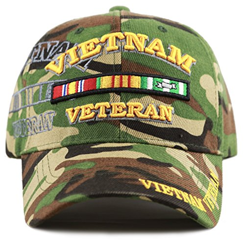 THE HAT DEPOT 1100 Official Licensed Vietnam Veteran Shadow 3D Baseball Cap (Woodland Camo) ()