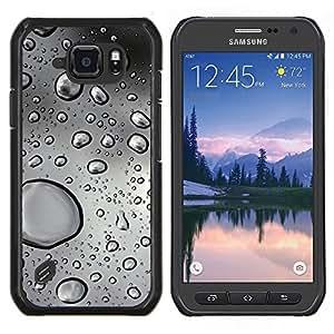 EJOOY---Cubierta de la caja de protección para la piel dura ** Samsung Galaxy S6Active Active G890A ** --Gotas de agua