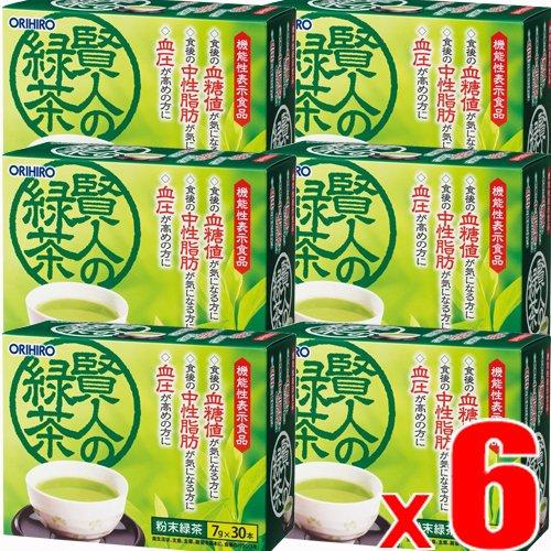 【6個】オリヒロ 賢人の緑茶7g×30包x6個(4571157252148-6) B07DLKYDLN