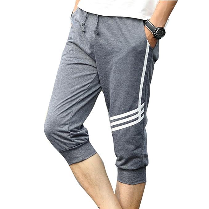 detaillierter Blick 131b1 1266d Juqilu Kurze Sporthose Herren - Mode Einfarbig Elastische ...