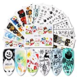 808 decals - 30pcs Xmas Watermark Nail Stickers Full Wraps Snowman Design Nail Art Sliders For Nails Water Decals Manicure Decor JISTZ779-808