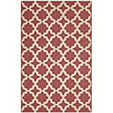 Modway R-1139E-58 Cerelia Area Rug, 5′ x 8′, Red and Beige Review