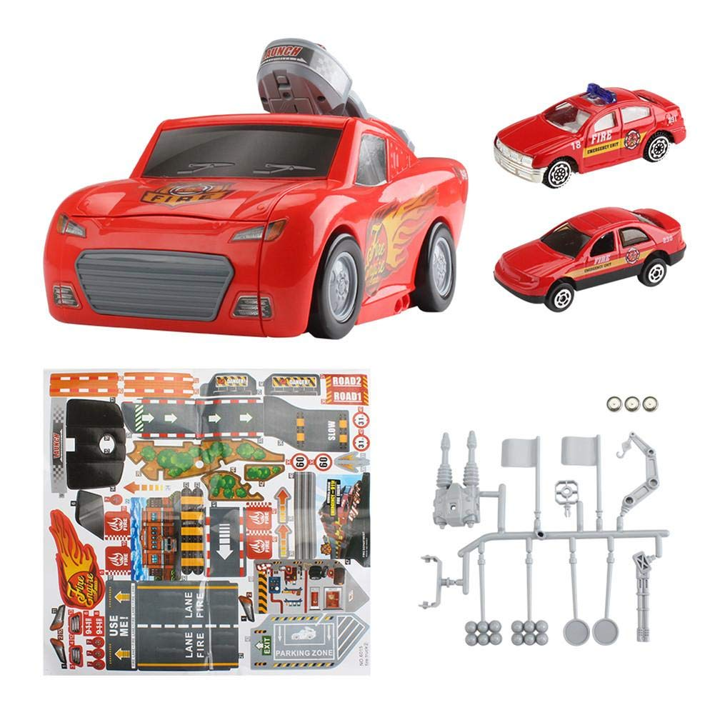 Toy Car Track Parking Lot with Sound and Light and Catapult Function for Children Great Gift
