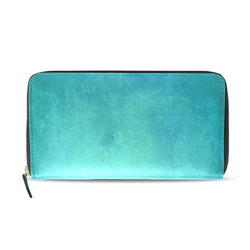 Azul Verde azulado Color Arte Acuarela Largo Pasaporte ...