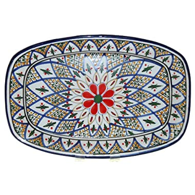 Le Souk Ceramique Rectangular Platter, Tabarka Design