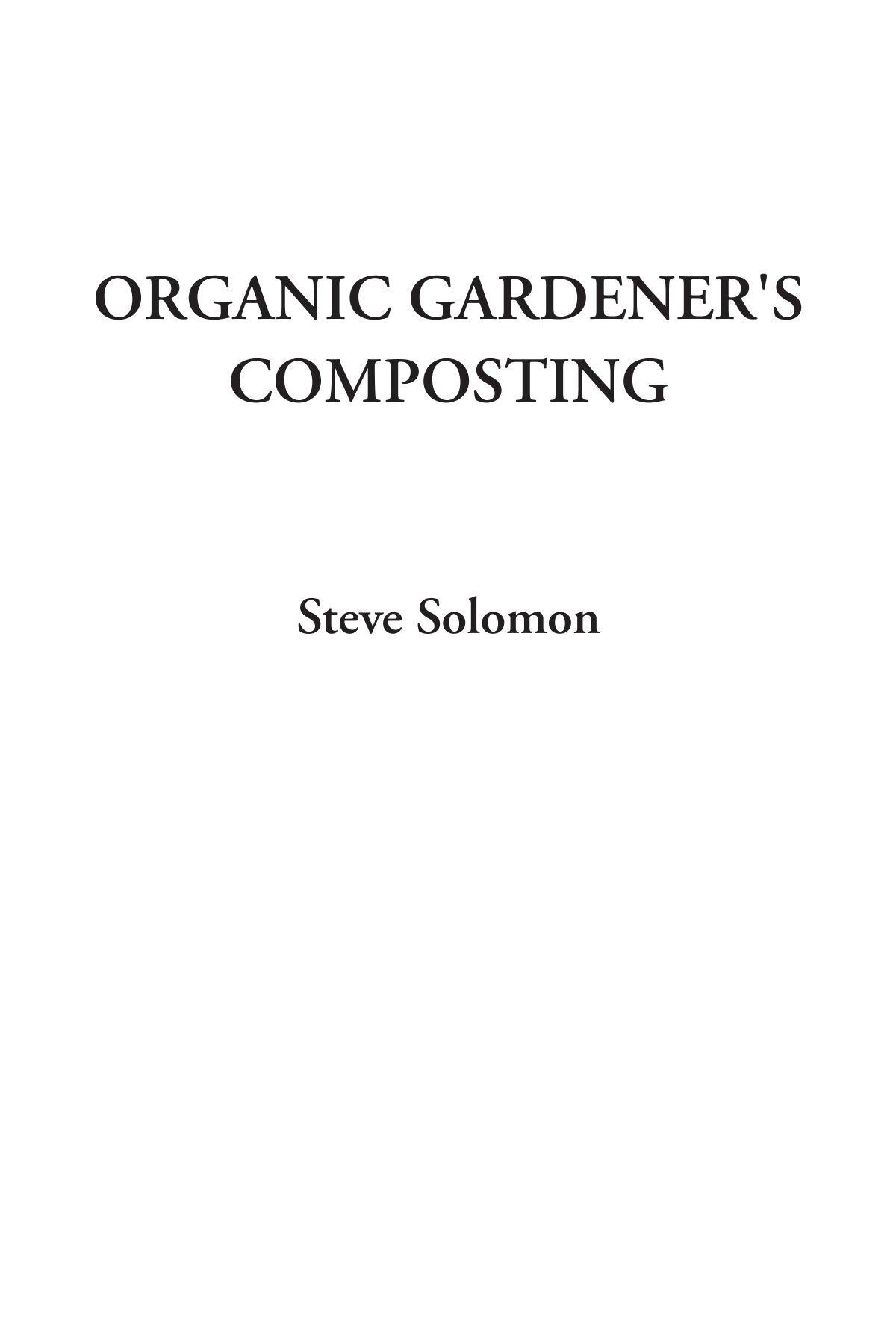 Organic Gardener's Composting pdf epub