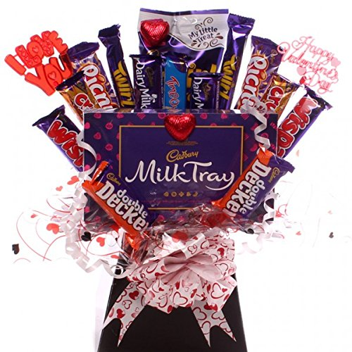 Valentine's chocolate bouquet the perfect Valentine's Gift.