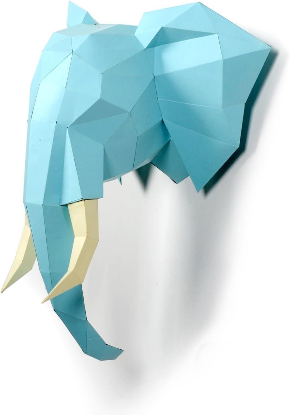 WXMYOZR Papier Troph/ée Origami Animaux Bricolage Origami Mur 3D Animal D/écoration Murale D/écoration Bricolage Papercraft Reindeer Origami Animaux Carton D/écorations Art Piece,A