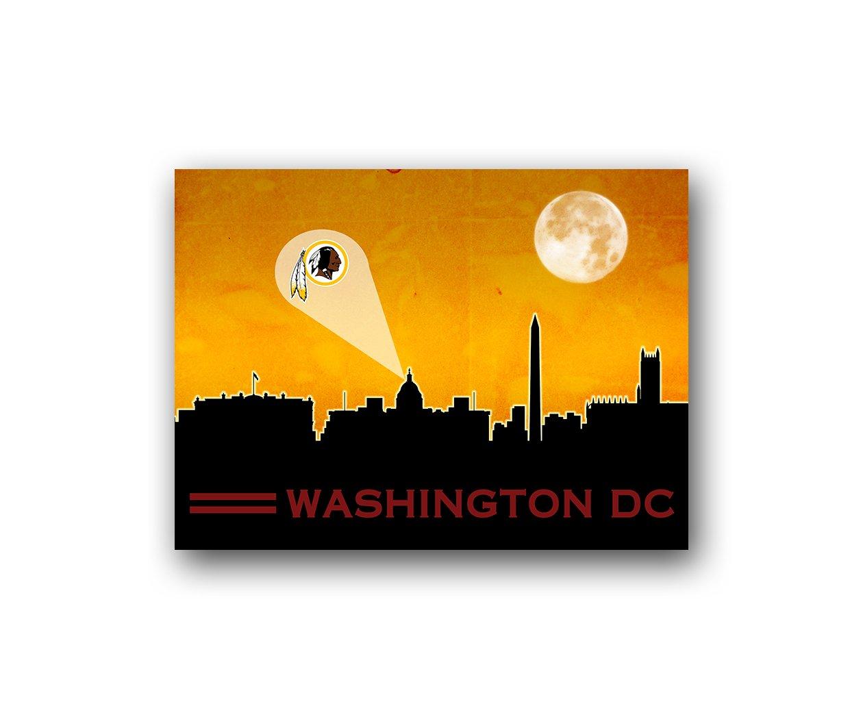 Amazon.com : Washington DC Redskins Poster Sports Art City Skyline ...