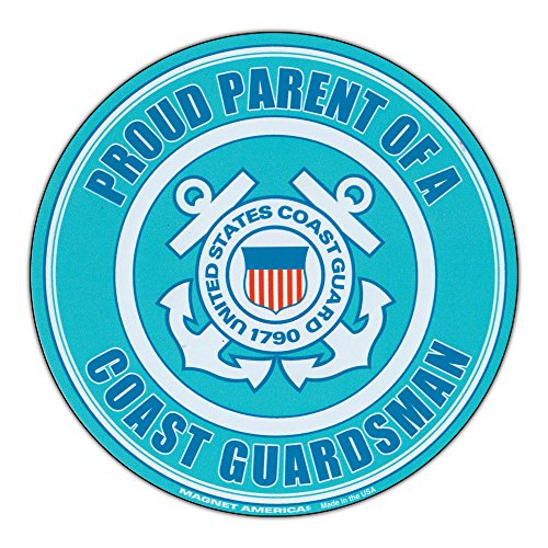 Refrigerator Magnet - Proud Parent U.S. Coast Guard - Military Support, Pride Magnet - 5