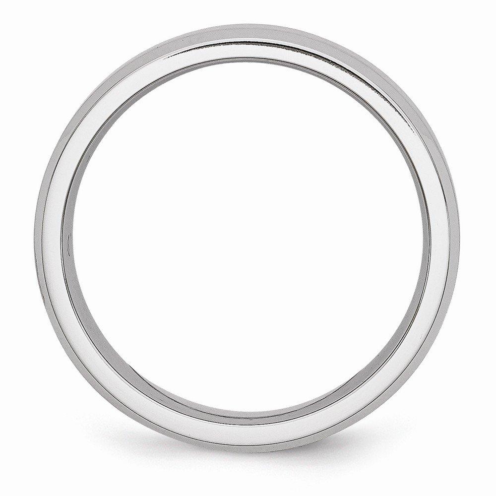 BillyTheTree Jewelry Cobalt Beveled Edge Satin and Polished 6mm Band Ring