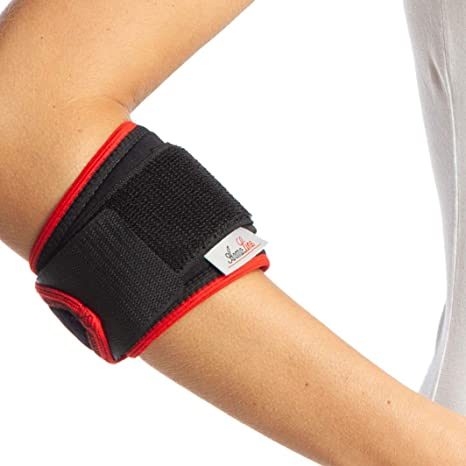 Tennis Elbow Support Strap Brace For Both Arms Epicondylitis Support Adjustable Neoprene Epi Bandage Arthritis Pain Relief Strap For Golfers Tennis Players Gym Sport Black Amazon Co Uk Health