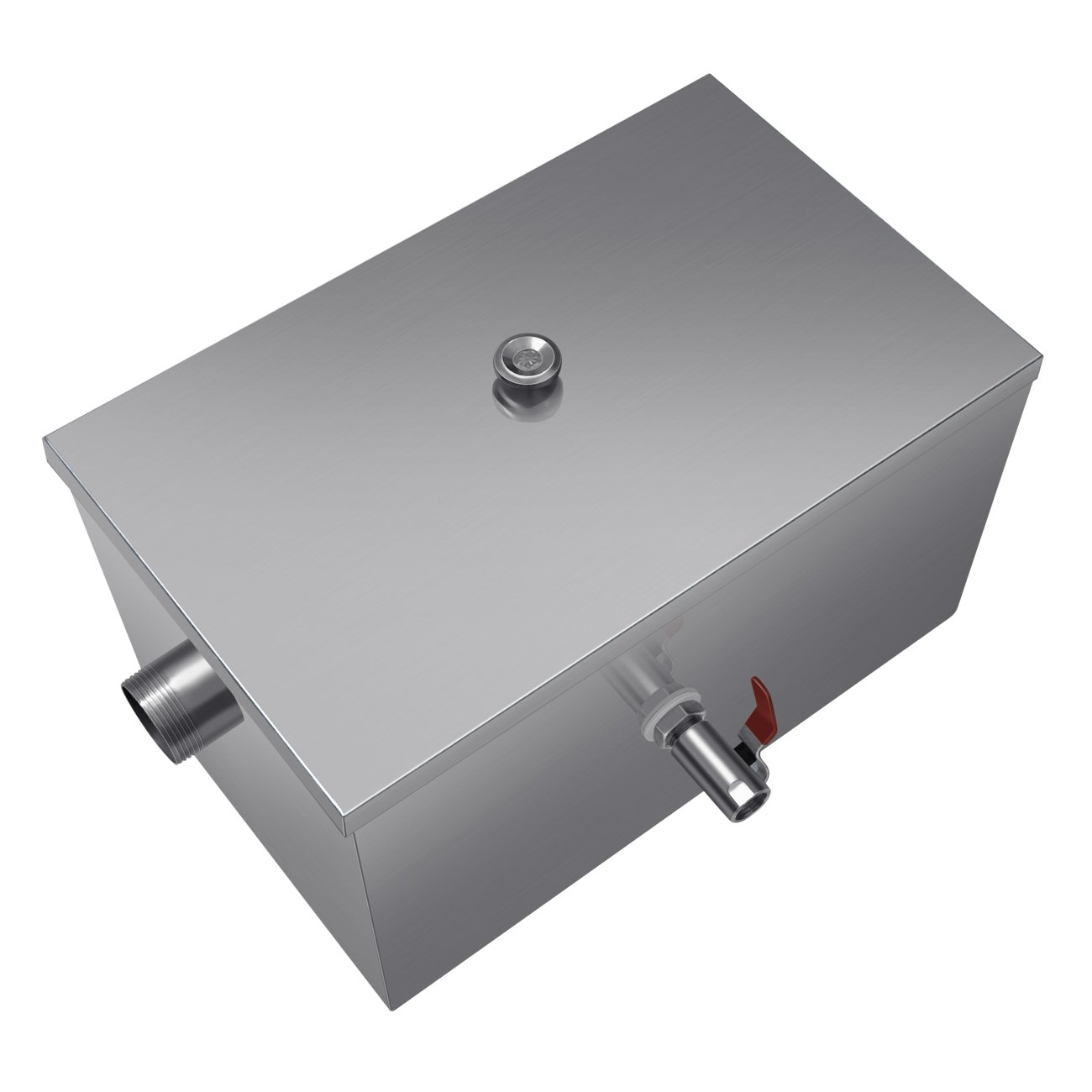 Commercial 8LB Grease Trap 5GPM Stainless Steel for Restaurant Kitchen