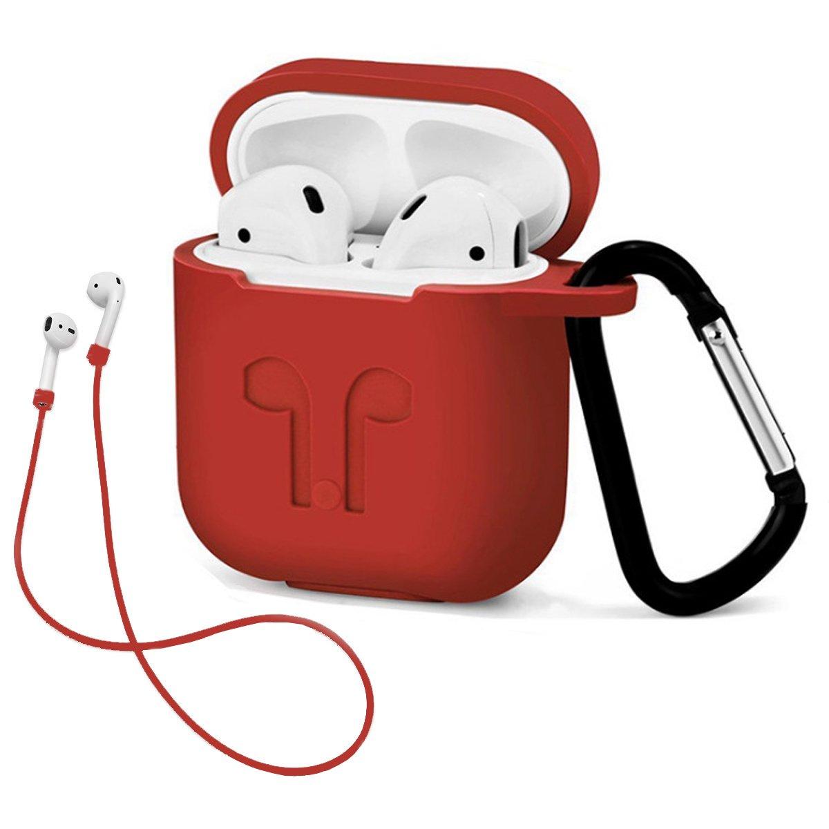 Amazon.com: Funda para Airpod con llavero, silicona a prueba ...