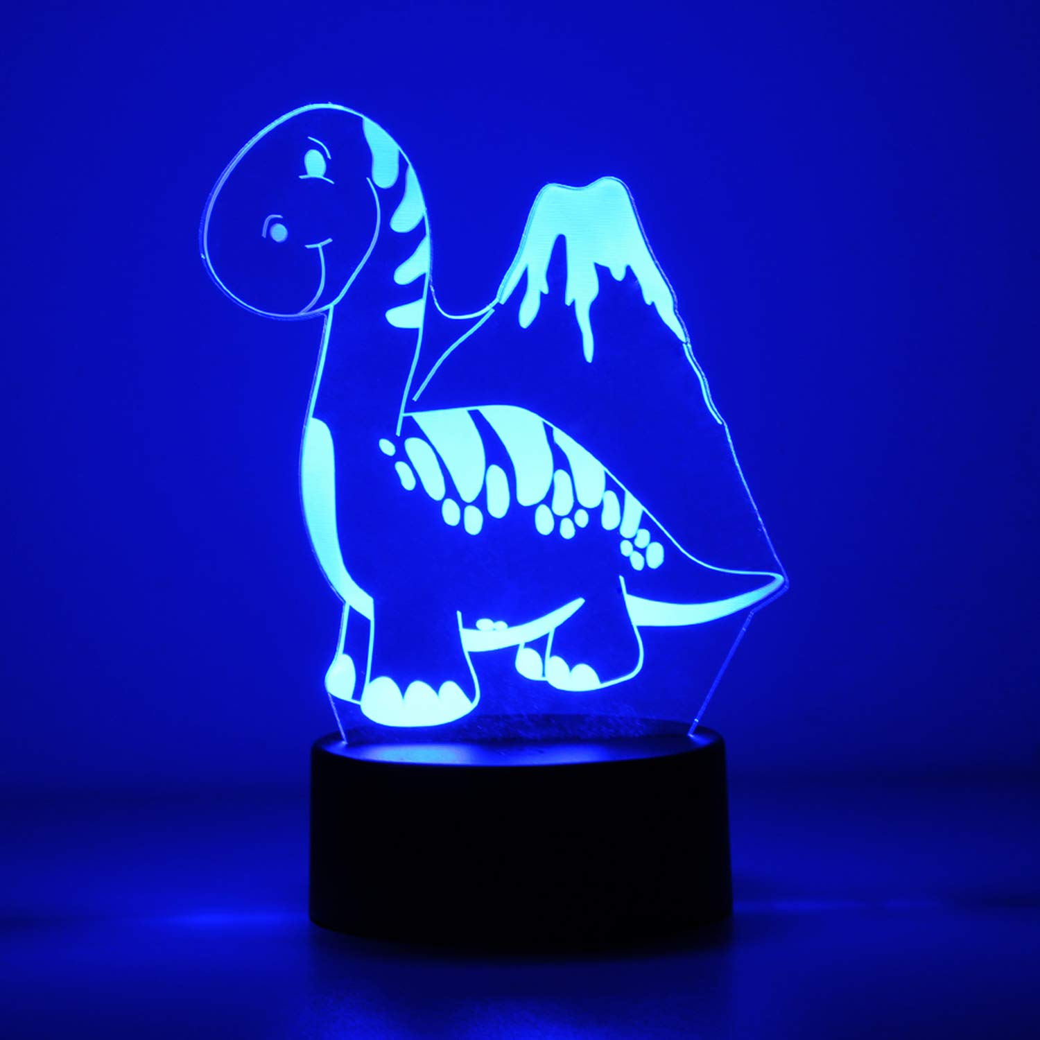 OYE HOYE 3D LED Lamp Night Light with Remote Controller, USB & Battery Powered, Touch Sensor Base, 3D Visualization 15+ Color Table Light for Home Decor, Color Changing Desk Light