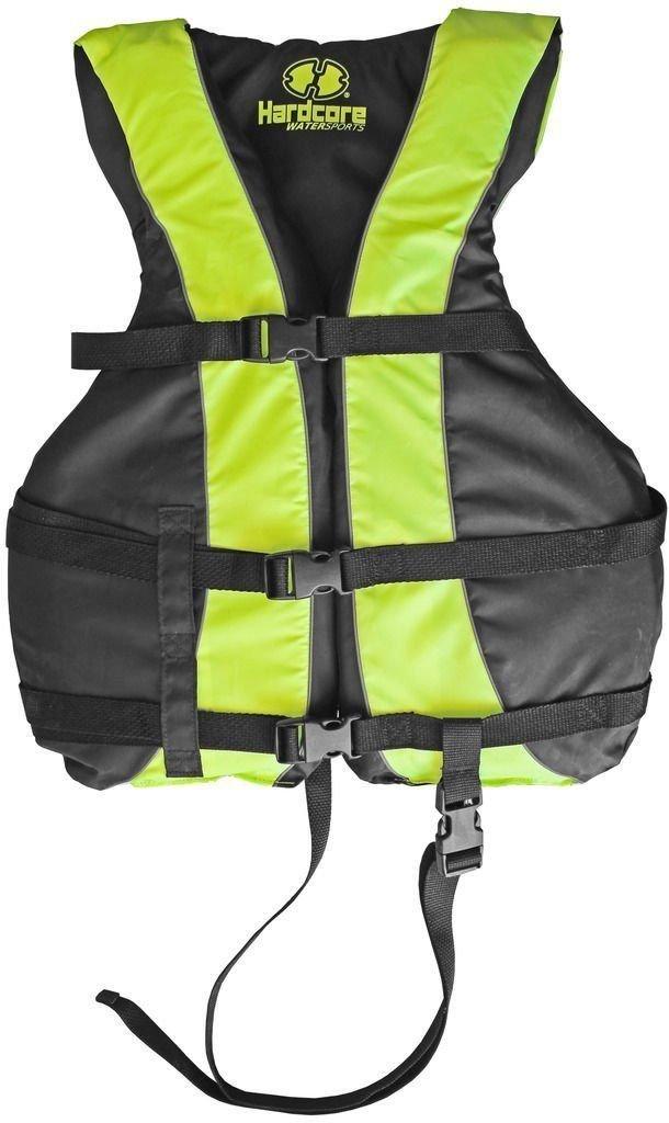 高い可視性大人&子供用ライフジャケット救命胴衣USCGタイプIIIスキーベストW /脚ストラップ Universal (S, M, L) イエロー B01MXC05XY