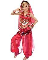 Ouneed® Enfant Danse Orientale Costume 3pcs Tenu Ceinture + Hauts + Harem Pants