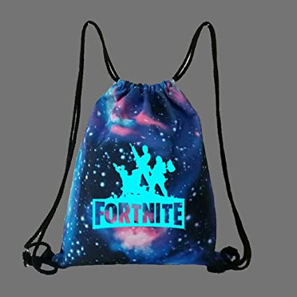 HM Monkey Fortnite Drawstring Luminous Backpack, Mochila Ponible De Lona, Escuela Aplicada, Portátil