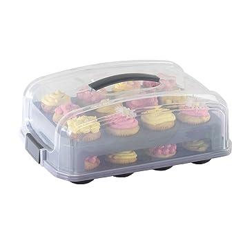 Xavax Kuchen Transportbox Fur Kuchen Oder 12 Bis 24 Cupcakes
