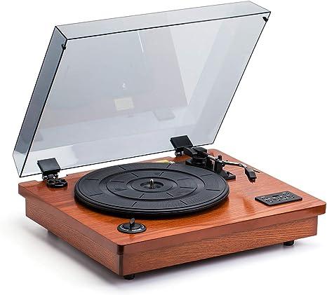 Amazon | HOFEINZ 天然木材 スピーカー内蔵 レコードプレーヤー ...