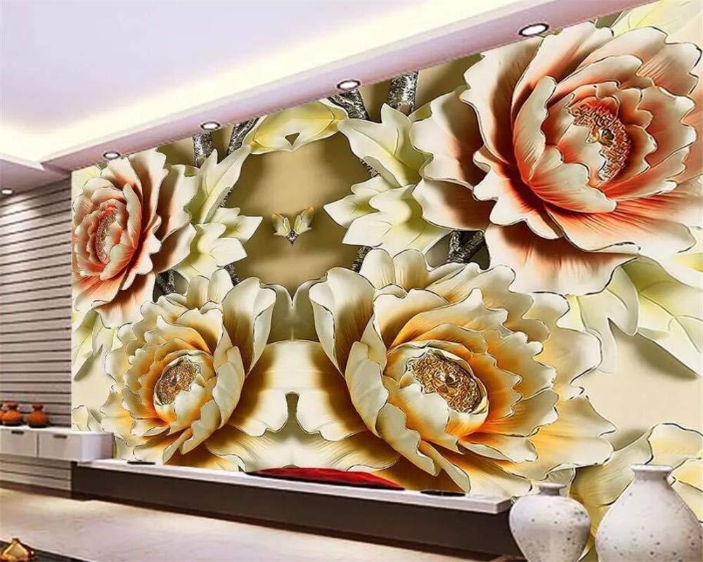 Buy Avikalp Exclusive Awz0263 3d Wallpaper 3d Floral Peony Tv