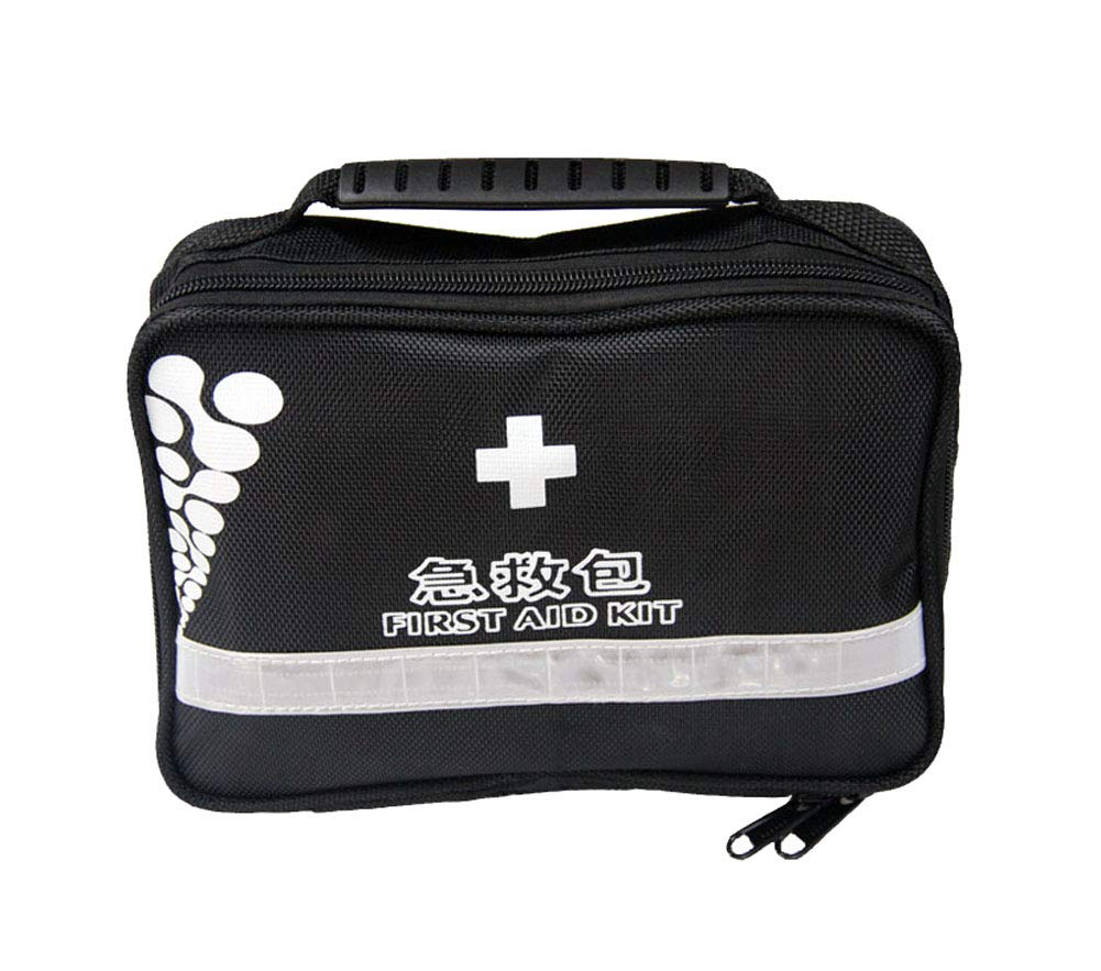 Black First Aid Kit, Outdoor Travel Portable Household Empty Bag