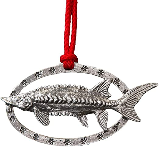 Creative Pewter Designs Hand-made Sturgeon Holiday Ornament F087OR