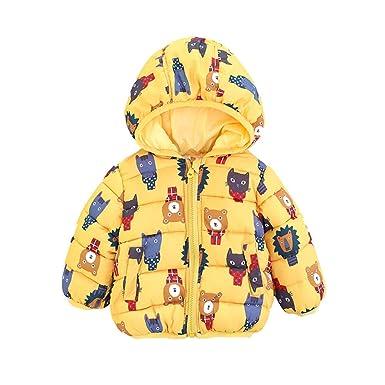 Abrigos Bebé, Dragon868 2019 Invierno bebés Oso Dibujos Animados Chaqueta con Capucha Abrigos Ropa: Amazon.es: Ropa y accesorios