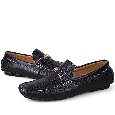 Men's Hollowed-out Driving Shoes Penny Loafers Male Casual Flat Slip-ons Footwear