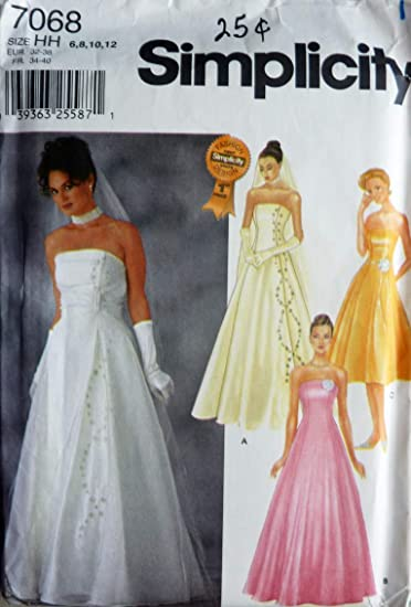 Buy Misses Wedding Dress Simplicity 7068 Size 6 12 Online At Low