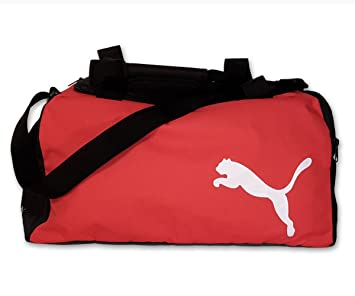 Puma bolsa de deporte, Team Bag Small, Black/Puma de red, 45 x 24 x 24