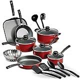 Tramontina 80119567 Batería de Cocina Primaware de 18 piezas, Rojo
