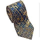 Josh Bach Mens CIVITAS Map of Philadelphia Silk Necktie in Blue/Gold