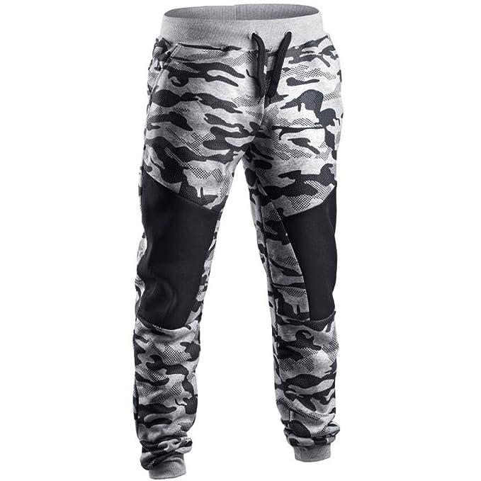 51335075f3f4f HHei_K Mens Vogue Camouflage Sweatpants, Men Fashion Patchwork Camouflage  Pants Casual Sweatpant (M,