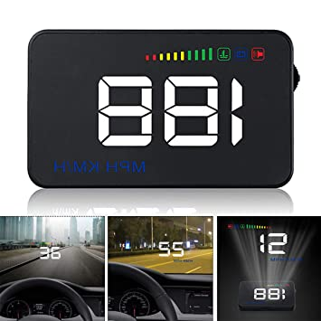 GOFORJUMP Pantalla Head Up Display A500 Velocidad del Coche Proyector 3.5 Pulgadas Universal Car-Styling