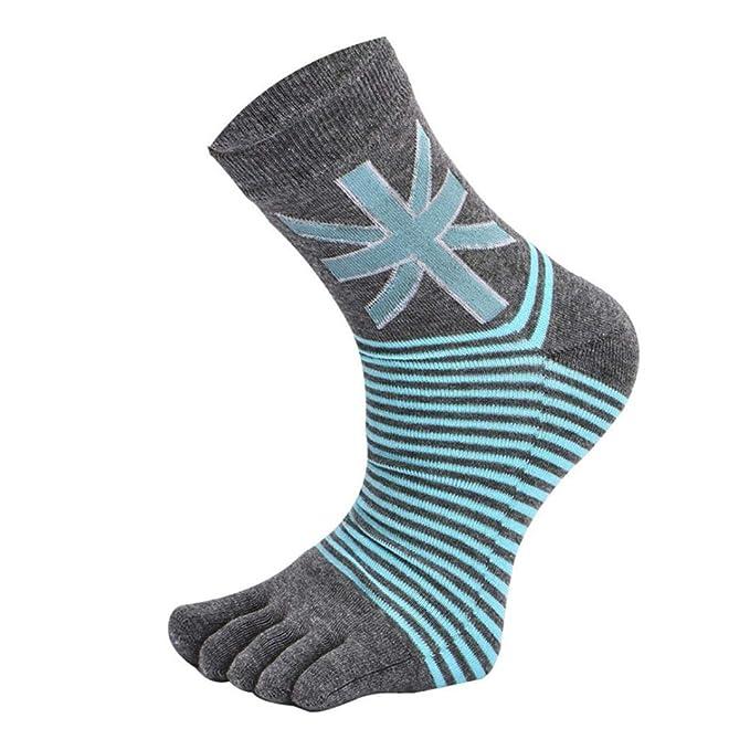 Foruu - 1 par de calcetines de algodón para hombre, tubo ...